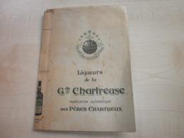 Ancienne Couverture LIQUEURS DE LA GRANDE CHARTREUSE - Liquor & Beer