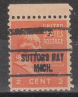 USA Precancel Vorausentwertung Preo, Locals Michigan, Suttoms Bay 734 - Vereinigte Staaten