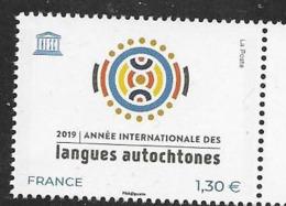 FRANCE, 2019, MNH,  LANGUAGES, INTERNATIONAL YEAR OF INDIGENOUS LANGUAGES,1v - Other