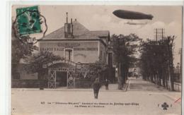 """CPA- Le """" Clément-Bayard """" Passant Au-dessus Du JUVISY-sur-ORGE-La Place Et L'Avenue-1910-dép91-2scans- - Juvisy-sur-Orge"""