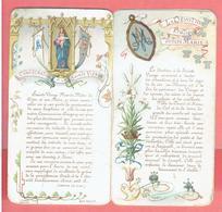 LIVRET ANCIEN DE 8 PAGES EN CHROMO LA DEVOTION PRATIQUE ENVERS MARIE CONSECRATION A LA SAINT VIERGE - Religion & Esotérisme