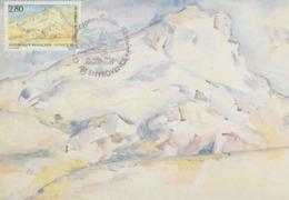 Carte-Maximum FRANCE N°Yvert 2891 / Cézanne / La  Montagne Sainte Victoire - 1990-99