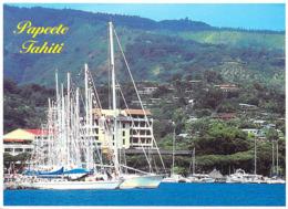 Polynésie Française- Voiliers Dans La Rade De PAPEETE TAHITI  (bateau Voilier )@ Photo W.Bringold Tahiti 1192 - Polynésie Française