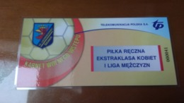 Handball 1 Liga Entrance Ticket From Poland From The 90s For VIPs RRR - Tickets - Entradas
