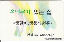 SOUTH KOREA - Text(tel:47-6800)(W3000), 09/95, Used - Corée Du Sud