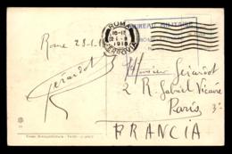 CACHET DU BUREAU MILITAIRE FRANCAIS DE ROME-TERMINI - Marcophilie (Lettres)