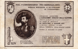 LA MARMORA - 1 CENTENARIO DEI BERSAGLIERI - VIAGGIATA - Regimente