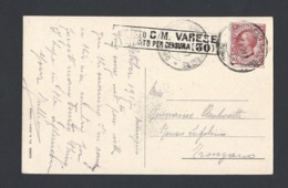 Guerre 14-18 Carte Postale De Maccagno Italie Du 8/10/1915 Avec Marque De Censure - Marcophilie (Lettres)