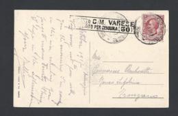 Guerre 14-18 Carte Postale De Maccagno Italie Du 8/10/1915 Avec Marque De Censure - Marcofilia (sobres)