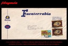 AMERICA. COLOMBIA. ENTEROS POSTALES. SOBRE CIRCULADO EMPRESAS 1966. BOGOTÁ-ST. PETERSBURG. FUENTERRABÍA S.A. - Colombia