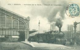 (62) Arras : Intérieur De La Gare - Départ De L'Express - Arras