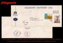 AMERICA. COLOMBIA. ENTEROS POSTALES. SOBRE CIRCULADO EMPRESAS 1966. BUCARAMANGA-ST. PETERSBURG. INCUBADORA SANTANDER S.A - Colombia