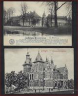 2 Postkaarten Van Jodoigne Le Chateau Cailloux + Souveraine ( E . Desaix ) Met Frankering RIJKSWAPEN ; Staat Zie 2 Scans - Jodoigne
