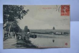 """SIVRY-sur-MEUSE-le Port-peniche-""""MAUVAIS ETAT(decollement)"""" - Francia"""