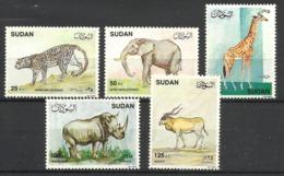 SUDAN  1990  ANIMALS  SET  MNH - Francobolli