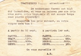 Guerre 40-45  Avis Aux Fermiers - Collections
