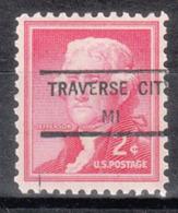USA Precancel Vorausentwertung Preo, Locals Michigan, Travese City 846 - Vereinigte Staaten