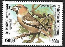 CAMBODIA - 1999 - MNH :   Hawfinch  -  Coccothraustes Coccothraustes - Pájaros Cantores (Passeri)