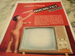 ANCIENNE PUBLICITE AVENIR TELEVISION DUCRETET THOMSON  1966 - Publicité