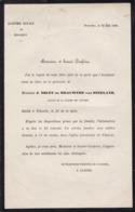 VILVORDE VILVOORDE J NOLET De BRAUWERE Van STEELAND 1888 Avis Décès Académie Royale De Belgique A5 - Obituary Notices