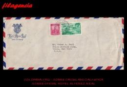 AMERICA. COLOMBIA. ENTEROS POSTALES. SOBRE CIRCULADO EMPRESAS 1952. CALI-UTICA. HOTEL ALFEREZ REAL - Colombia