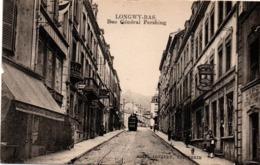 Longwy-Bas - Rue Général Pershing - édit Arnaud - Tramway - Bière Nectar Kodak - Longwy