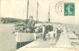 (83) Ile De Porquerolles : Le Port, L'arrivée Des Courriers (animée) - Porquerolles