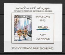 Comores Bloc Marathon ND/imperf/B JO 92 ** - Summer 1992: Barcelona