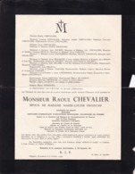 OLLIGNIES Notaire Raoul CHEVALIER époux FROIDURE Ancien Conseiller Communal  1889-1936 - Obituary Notices
