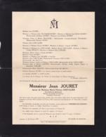 LESSINES Jean JOURET époux CHEVALIER Docteur En Médecine Conseiller Communal 1878-1937 Famille à OLLIGNIES - Obituary Notices