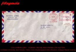 AMERICA. COLOMBIA. ENTEROS POSTALES. SOBRE CIRCULADO EMPRESAS 1983. MEDELLÍN-USTER. RETEXA LTDA. FRANQUEO MECÁNICO - Colombia