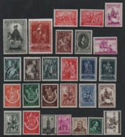 19/11 Belgique Belgie    Lot De 27 Timbres Anciens Neufs Charnieres ( 2 Beffrois Obl) Tous Etats Beaux D'aspect - Timbres