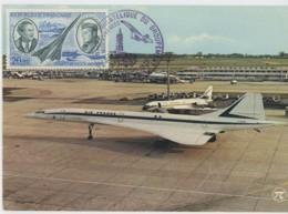 CM France - Concorde - Toulouse - 1975 - Cartes-Maximum
