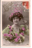 L80A137 - Louise - Jeune Femme Avec Une Brassée De Fleurs - Iris N°2006 - Auguri - Feste
