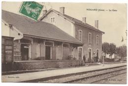32-NOGARO-La Gare...1909  Animé - Nogaro