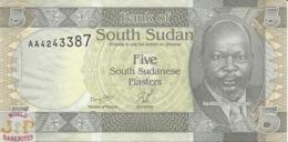 SOUTH SUDAN 5 PIASTRES 2011 PICK 1 UNC RARE - Sudan