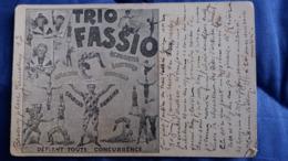 CPA TRIO FASSIO CIRQUE ACROBATES SAUTEURS CREATION NOUVELLE COLONNE HUMAINE 2 EME CHOIX - Circo