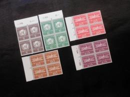 CH ZNr.22/23/24/26 - 5C/ 10C/ 20C/ 60C/ 2Fr**/MNH  Viererblöcke - ONU (Nations Unies) - 1955 - Z CHF 50.00 - Officials