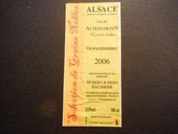 Alsace - Gewurztraminer Sélection De Grain Noble 2006 - Hubert Et Heidi Hausser - Lieu Dit Altengarten Eguisheim - Gewurztraminer
