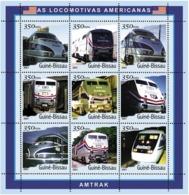 Guinea - Bissau 2001 - Trains AMTRAK. Michel 1800-1808 - Guinée-Bissau