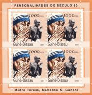 Guinea - Bissau 2001 - Mere Teresa-Mahatma Gandhi. Michel 1967 - Guinea-Bissau