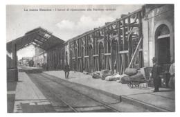 La Nuova Messina I Lavori Di Riparazione Alla Stazione Centrale Non Circulée - Messina