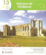 Fiche Touristique - Abbaye De Maillezais - 2019 (Vendée) - Reklame