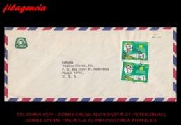 AMERICA. COLOMBIA. ENTEROS POSTALES. SOBRE CIRCULADO EMPRESAS 1970. BOGOTÁ-ST. PETERSBURG. FINCA S.A. IND. AGROPECUARIA - Colombia