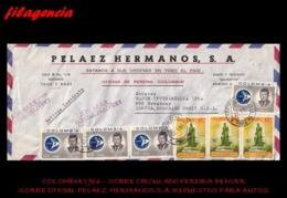 AMERICA. COLOMBIA. ENTEROS POSTALES. SOBRE CIRCULADO EMPRESAS 1966. PEREIRA-DENVER. PELAEZ HERMANOS S.A. REPUESTOS AUTOS - Colombia