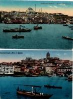 Constantinople X 2 - 1922 - Istanbul - Péra & Galata - Mosquée - Türkei