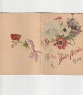 Calendrier Ronde Des Mois 1904 Avec Poemes Fleurs - Calendari