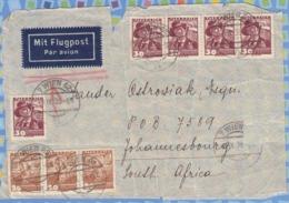 Austria On Cover South Africa RSA - 1938 - Costumes Of Districts 20g, Upper Austria.30g Styria. - 1918-1945 1ère République