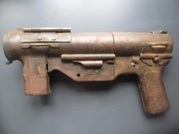PISTOLET ANCIEN SUB MACH GUN M3 US INCOMPLET MAUVAIS ETAT - Decorative Weapons