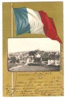 CPA 90 BEAUCOURT - Vue Générale Dans Médaillon - Drapeau Français  - Peu Commune - Beaucourt